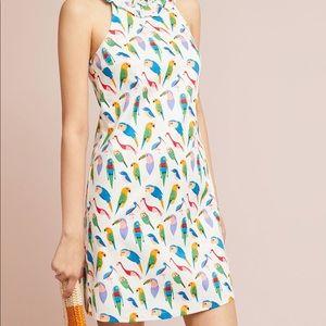 Anthropologie Parrot Shift Dress